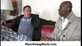 Interracial porn MILF babe gets nailed by big cock black dude 33