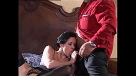 Sexy brunette banged by Roberto Malone cock