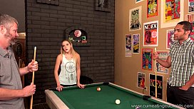Cum Eating Cuckolds - Hollie Mack'_s hubby lost her in a pool game