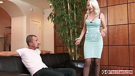 Stunning busty blonde Gigi Allens fucked by her boyfriends sn