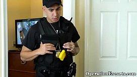 Dicksucking prostitute riding cops cock