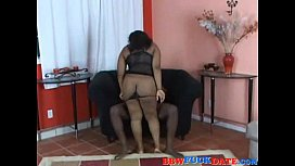 Large ass black girl gets fucked hard by a BBC