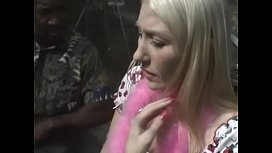 Busty blonde housewife Dalny Marga was upset with the fact that all dickes which she ever sucked were small and black Samaritan decided to solace her showing his huge dong