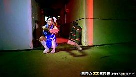 Brazzers - Hot And Mean - Christen Courtney and Rina Ellis -  Sex Fighter Chun Li vs. Cammy (XXX Parody)