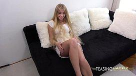 Skinny Blonde Uses Toy For Genuine Clitoral Orgasms