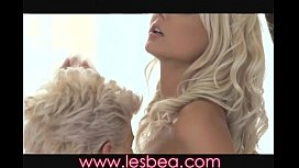 Lesbea Young blondes get intimate