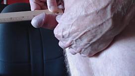 Another tiny dick cumshot
