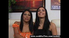 Latina Cassandra Cruz vs Mexican Lorena Sanchez - Cock For Two