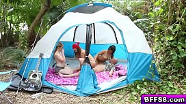 Hot group fucking with horny teen campers