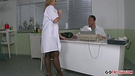 Hot Young Nurse Sucks And Fucks Doctor At Work