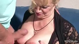 Big Tit MILF Mother Seduce to Fuck by Big Dick Step-Son