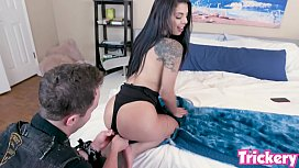 Trickery - Gina Valentina tricked into sex with her BFs brother