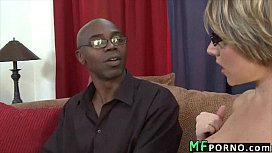 Teacher with glasses tries big black dick Velicity Von 2