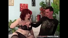 Redhead Granny Can'_t Wait For Anal With Young Dick