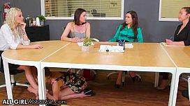 AllGirlMassage Kristen Scott'_s Feet Massage To Her Boss Kenzie Taylor Takes A Wet Turn