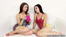 Horny babe Anya and Jenna loves a hard cock