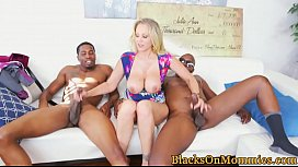 Bigtitted milf double facialized by bbc