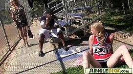 Horny Daughter & Mature Mom Share Black Cock - Allie James & Erica Lauren