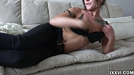 Shameless Lita Phoenix threw off her clothes and rubbed her clit to orgasm