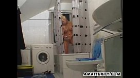 Busty amateur girlfriend sucks and fucks in the bathroom subgirl0831