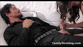 Daughter Blowjob While Step Dad Sleeps - FamilyStrokingcom