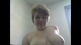Chubby blonde with short hair toys solo fuckse ivecam