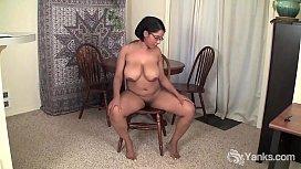 Yanks Natalia Johnson Rides A Chair