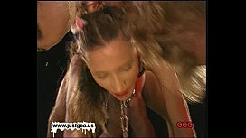 Chained teens getting fucked and cum covered - German Goo Girls