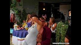 Elegant whores take dicks at party