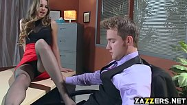 Abbey shows an unforgettable threesome