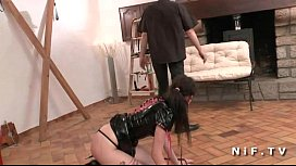 French teen hard banged in BDSM hardcore sessions