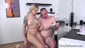Tricky Old Teacher - Horny student seduces her teacher with her tight body