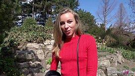GERMAN SCOUT - Schlanke Studentin Emily bei Casting gefickt