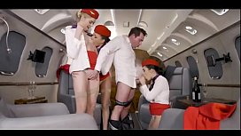 3 Stewardesses Taken fuck On hott9.com