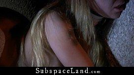 Lustful blonde inspires Master to dark kinky night game