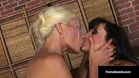 Beautiful Lesbian Duo Puma Swede &amp_ Lisa Ann Lick Some Pussy!