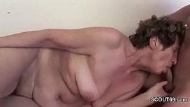 Young Man Seduce Grandma to get First Fuck and Fuck her Ass