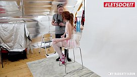 LETSDOEIT - Anny Swix Feeds Her Photographer With Her Tight Pussy And Moans In Delight
