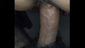 Black hairy pussy and big indian cock