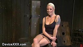 Blonde strapped to a post gets vibed preview