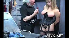 Big boobs babe hard screwed in extreme thraldom xxx scenes