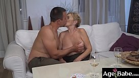 Some kinky fun for mature Malya and  younger boyfriend Rob