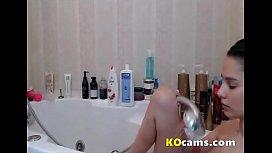 Brunette shower