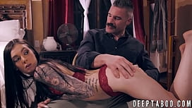 Stepdaughter Marley Brinx fucked by dominant daddy