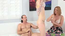 Aspen Ora practice blowjob with step dads hard cock