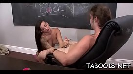 Charming pussy stimulation for hot teen