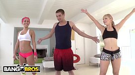 BANGBROS - Stepmom Ashley Fires Has Anal Threesome With Kennedy Leigh &amp_ Xander Corvus