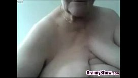 Big And Horny Grandmother Masturbating
