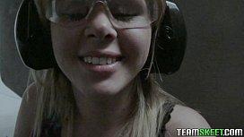 POVLife Sexy Petite blonde teen Elizabeth Bentley fucked POV
