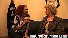 golden granny girl gets rammed